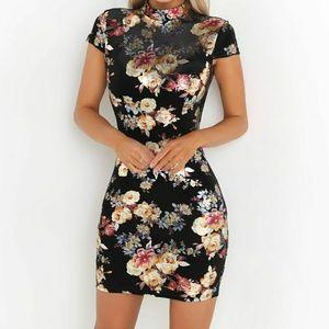 I.AM.GIA Aioki floral velvet bodycon dress size xs